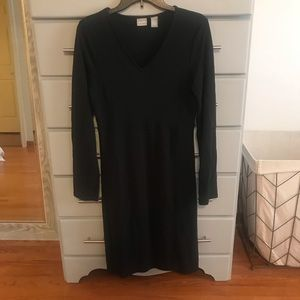 Old Navy, Black V neck Dress, Sz M